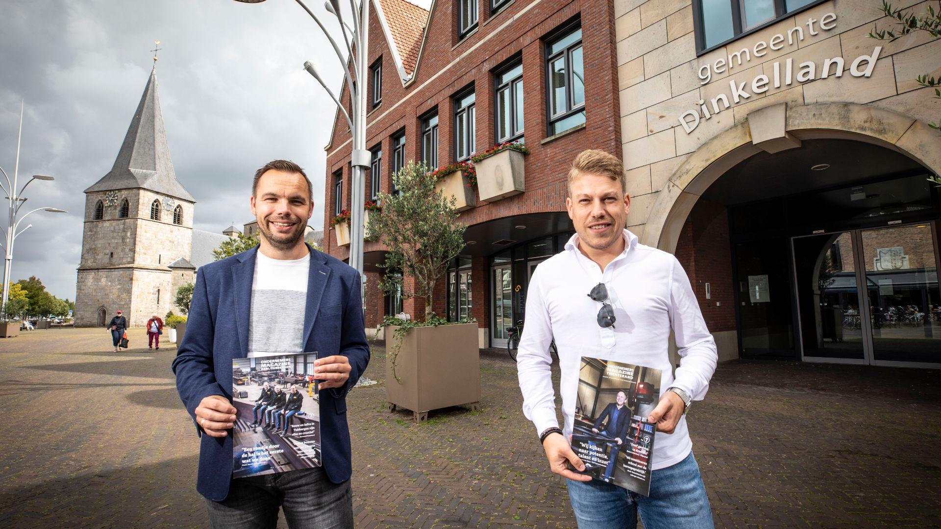 Acquisiteur Brian Brokelman samen met Ageloër Joost Lansink.