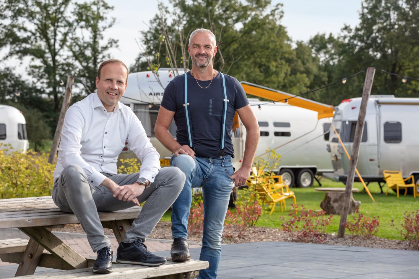 Frank Koopman van Koopman Assurantiën en Jan Steggink van Steggink Infra
