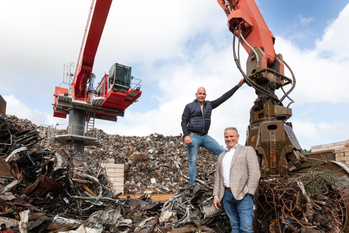 Gert en Ewald Huzink, de eigenaren van Riwald Recycling in Almelo en Beverwijk.