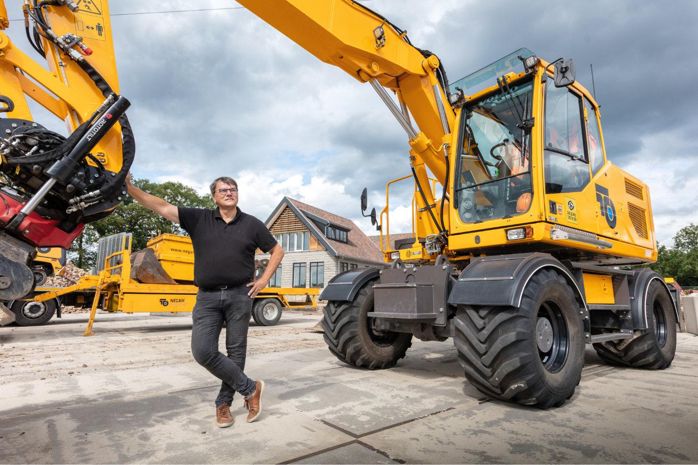 Maurice Beijk in zijn rol als Rentmeester2050 bij het nieuwbouwproject in Borne