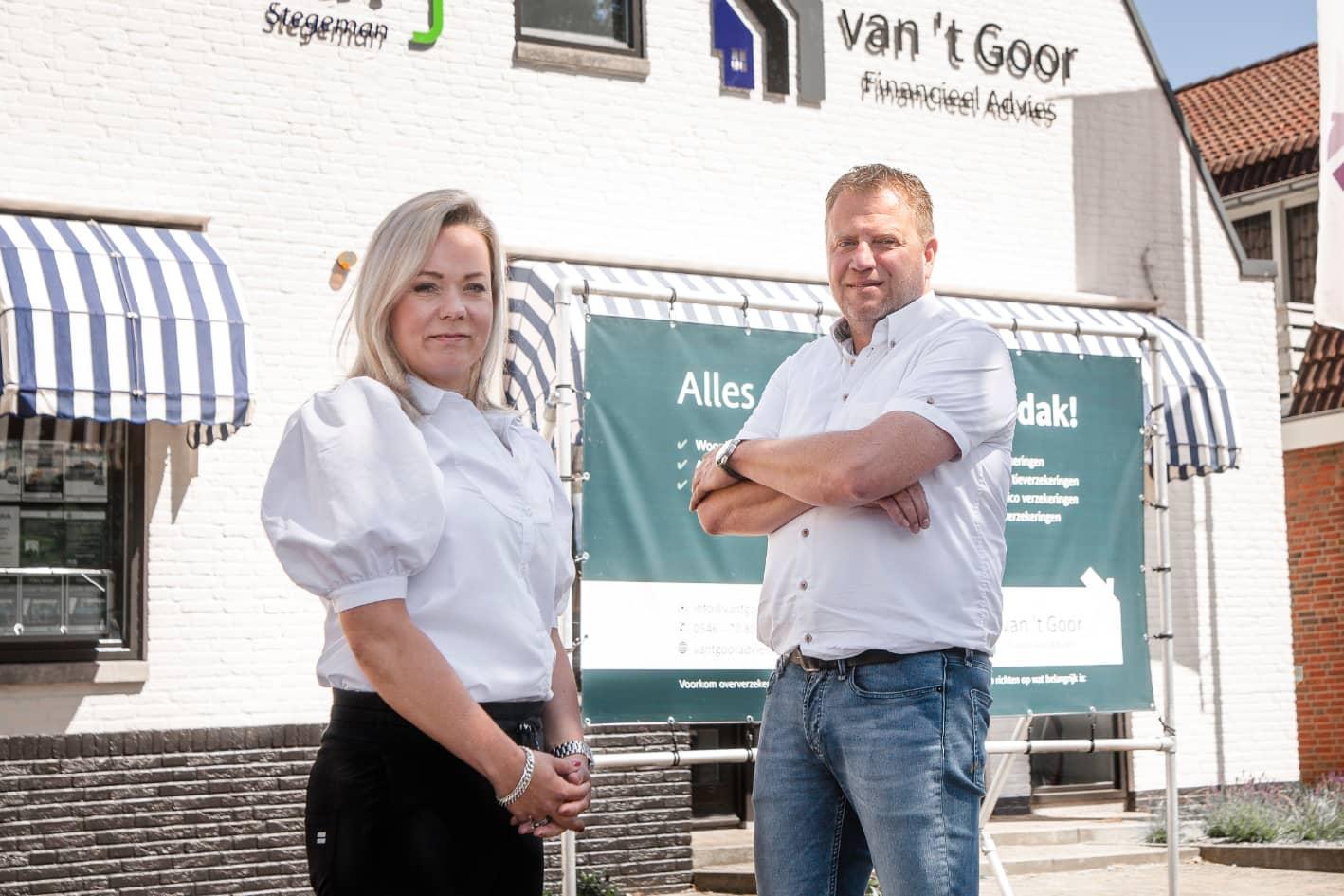 Melissa en Gert Jan van 't Goor, eigenaren van Van 't Goor Financieel Advies