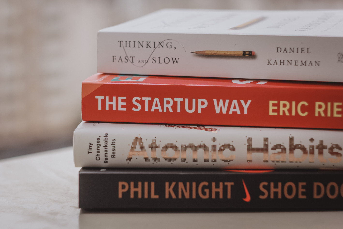 Boeken op een tafel