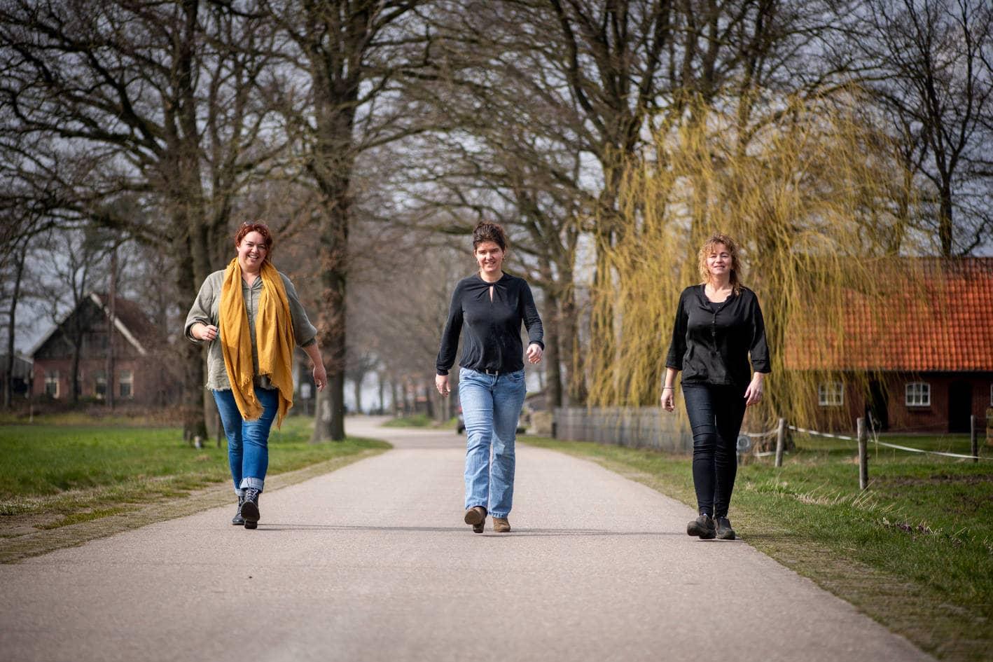 Laura Schrijver, Stephanie van den Berg en Esther Loohuis