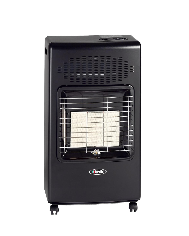 """Pullover con la sua linea semplice ed elegante è il modello base ad Infrarossi di Bartolini, il comodo fondo richiudibile ottimizza l'ingombro nei periodi di non utilizzo dell'apparecchio Il bruciatore infrarosso Bartolini offre un riscaldamento semplice e veloce, grazie al gruppo radiante a piastre ceramiche modulabile che permette di erogare fino a 4200 Watt.  Perfetta per chi ama il calore del """"fuoco"""", questa stufa ad infrarosso presenta una combustione ben visibile e garantisce un'elevata capacità di irraggiamento.  Possibilità di scegliere tra tre livelli di potenza, 1400W, 2800W, 4200W. Le quattro ruote piroettanti rinforzate ruotano a 360° assicurando un pratico spostamento in qualsiasi direzione e su qualsiasi tipo di pavimento. Alimentata con miscela GPL in bombole fino a 15kg."""