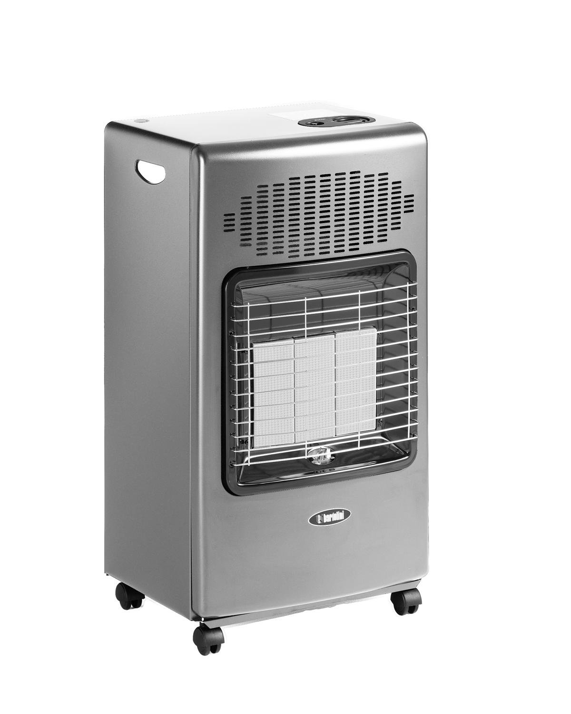 """Helios con la sua struttura solida ed ampia abbina la facilità di utilizzo all'efficienza.  Il bruciatore infrarosso Bartolini offre un riscaldamento semplice e veloce, grazie al gruppo radiante a piastre ceramiche modulabile che permette di erogare fino a 4200 Watt.  Perfetta per chi ama il calore del """"fuoco"""", questa stufa ad infrarosso presenta una combustione ben visibile e garantisce un'elevata capacità di irraggiamento.  Possibilità di scegliere tra tre livelli di potenza, 1400W, 2800W, 4200W. Le quattro ruote piroettanti rinforzate ruotano a 360° assicurando un pratico spostamento in qualsiasi direzione e su qualsiasi tipo di pavimento. Alimentata con miscela GPL in bombole fino a 15kg."""