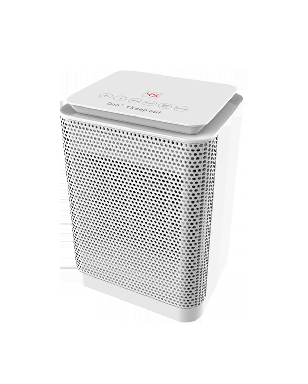 Torrino Termo è il piccolo termoventilatore caratterizzato da una resistenza con elementi ceramici ad alta efficienza. Pratico, è dotato di pannello touch-screen comodo per gestire le varie funzioni, oscillazione, termostato ambientale e protezione dal surriscaldamento e ribaltamento.