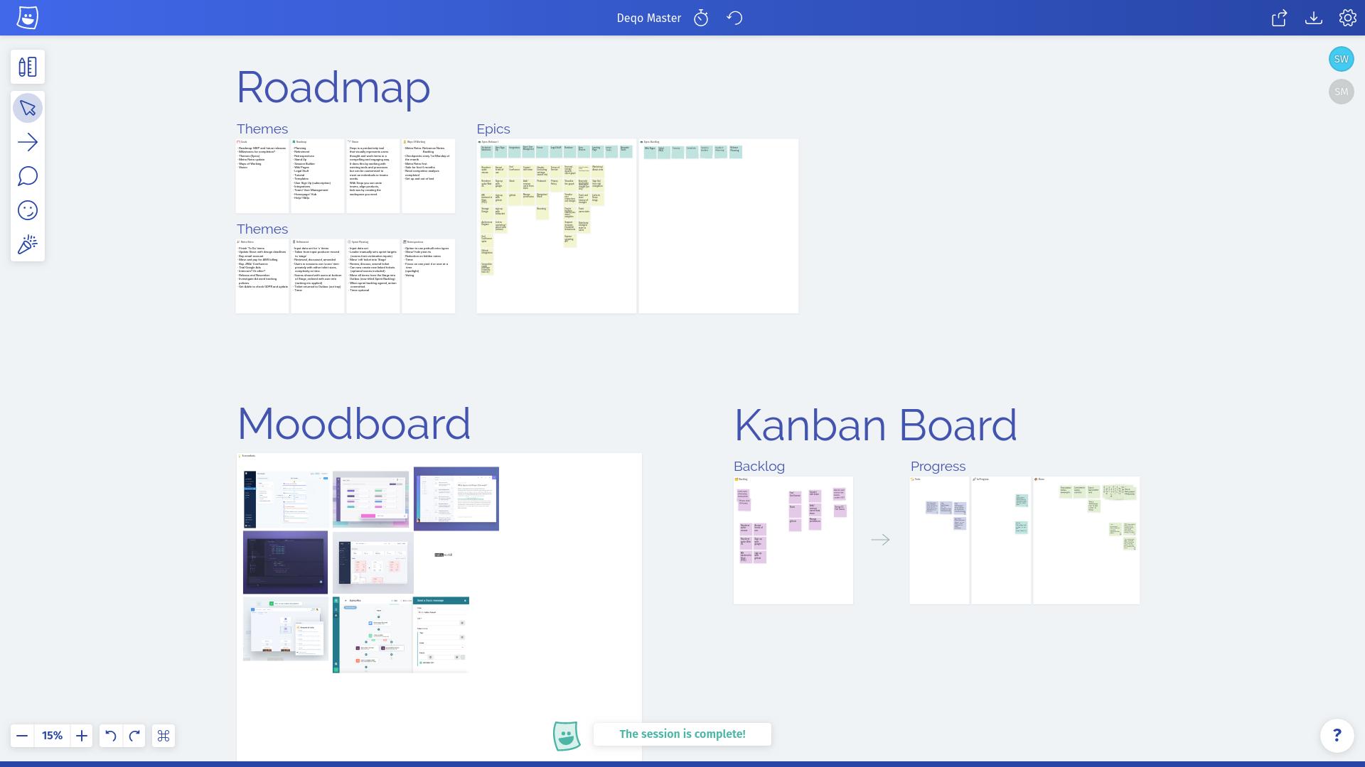 New product development board.