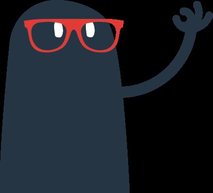 Smuf à lunettes