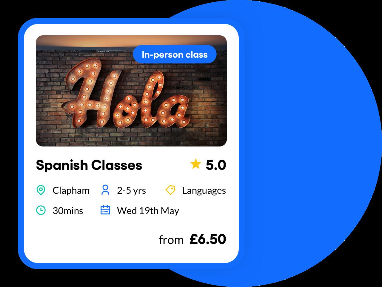 Spanish Classes feature image