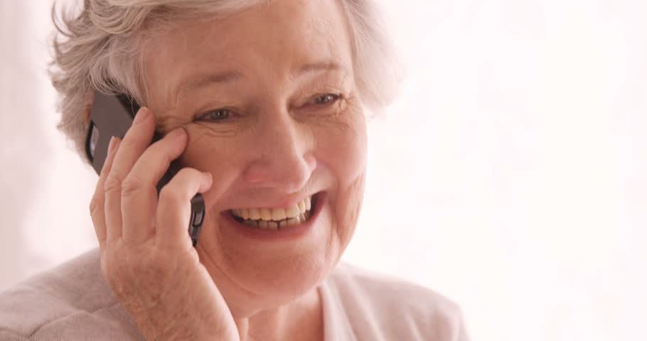 Older woman receiving a phone call