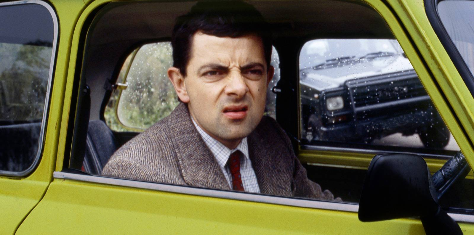 Picture of Mr. Bean in his car