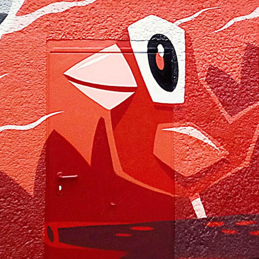 Vogel Graffiti für GASAGStrom & Gas