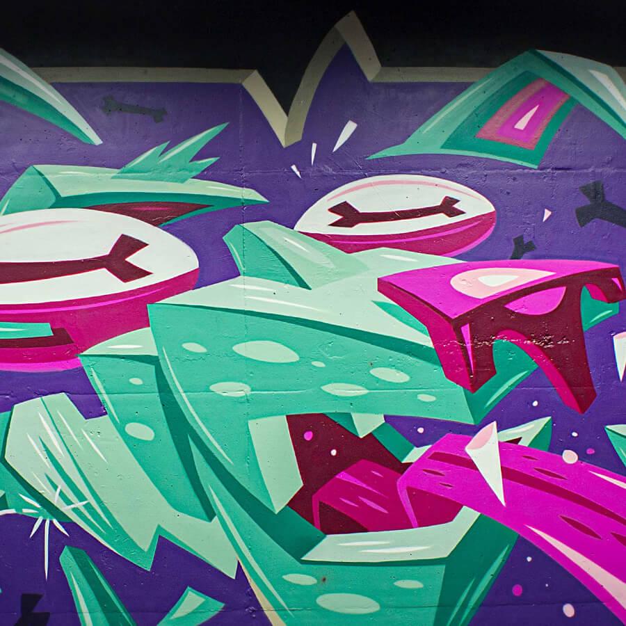 Graffiti Art im Tunnel am S-Bahnhof Raoul-Wallenberg-Straße