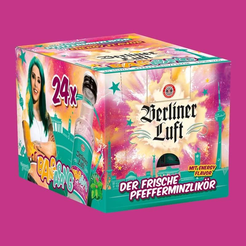 Berliner Luft Bangarang Verpackung mit Emely und Flasche