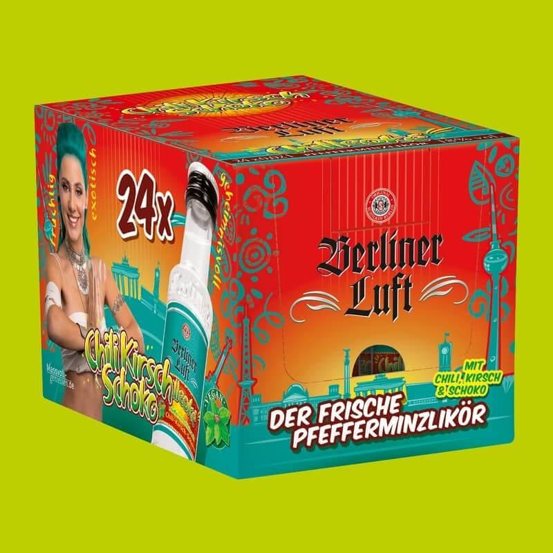 Berliner Luft Chilleoké Verpackung mit Emely und Flasche