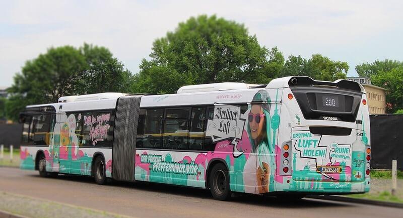 Berliner Luft Werbung Bus