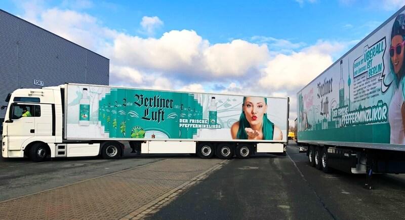 Berliner Luft Werbung Lkw