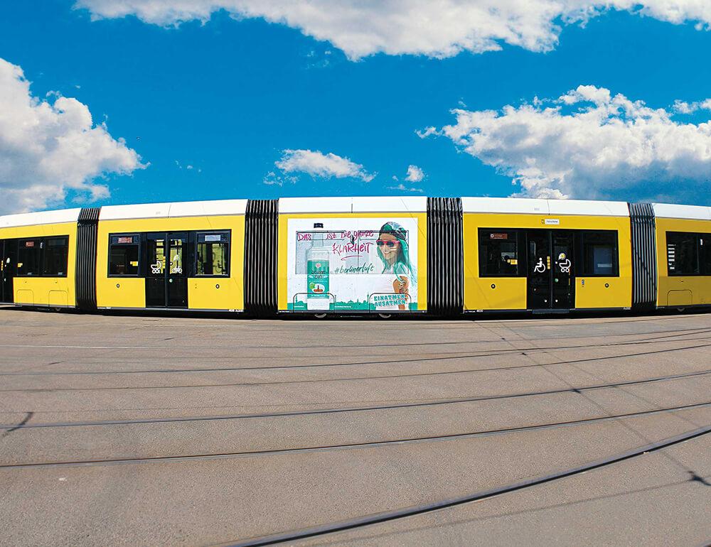 Berliner Luft Werbung Straßenbahn