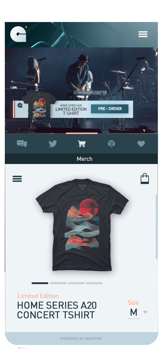 Sell Merch  Live Streaming | Maestro