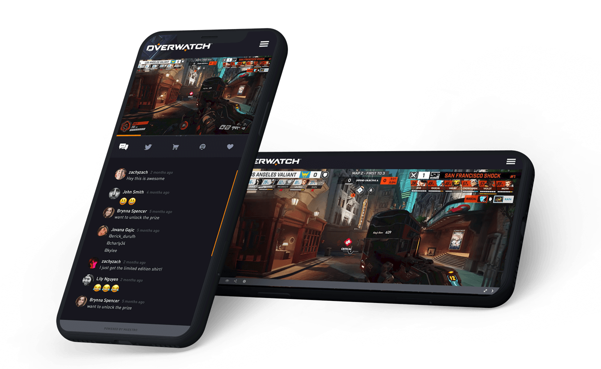 Mobile Experience -  Live Streaming | Maestro
