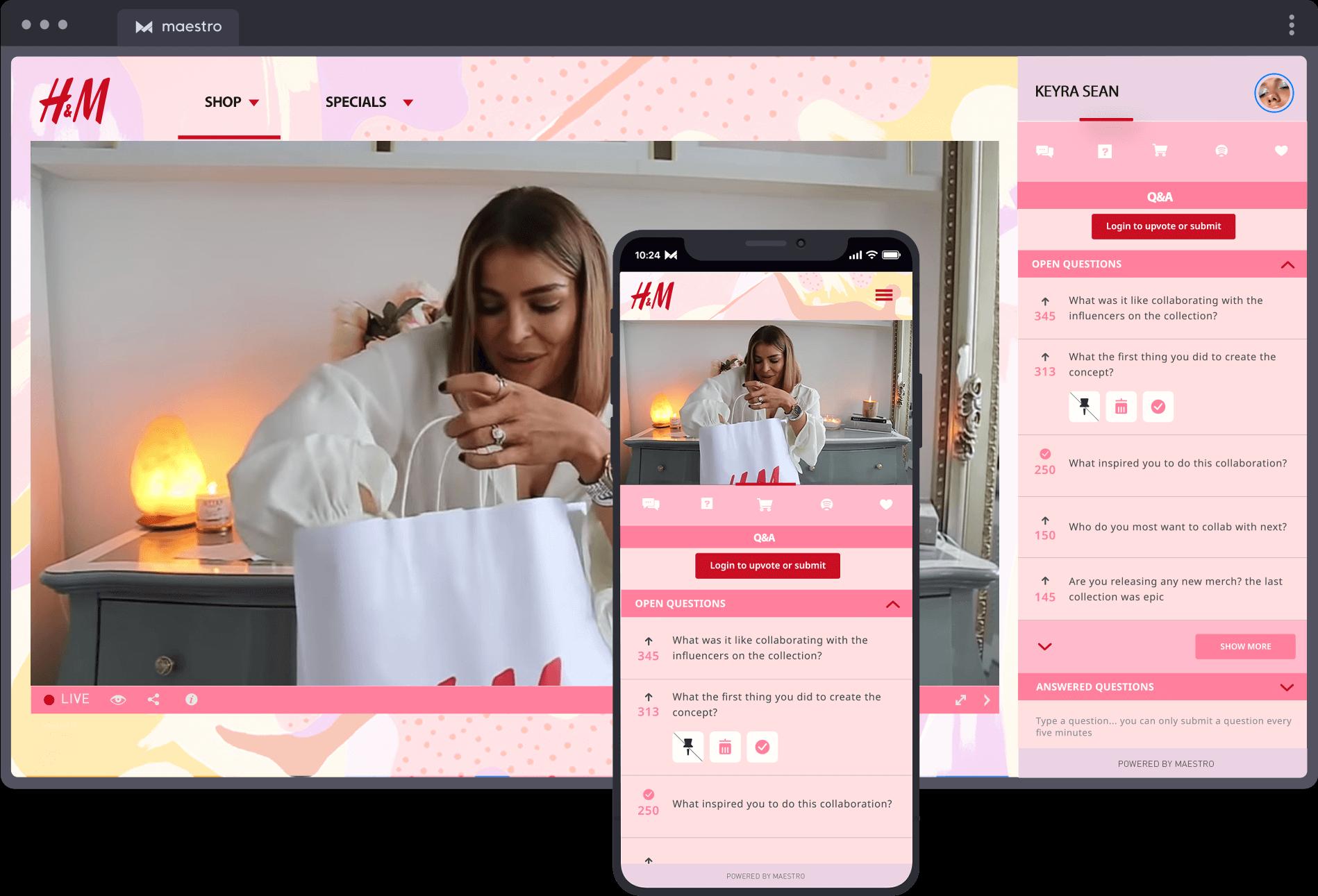 Retail & Fashion | Maestro Live Streaming