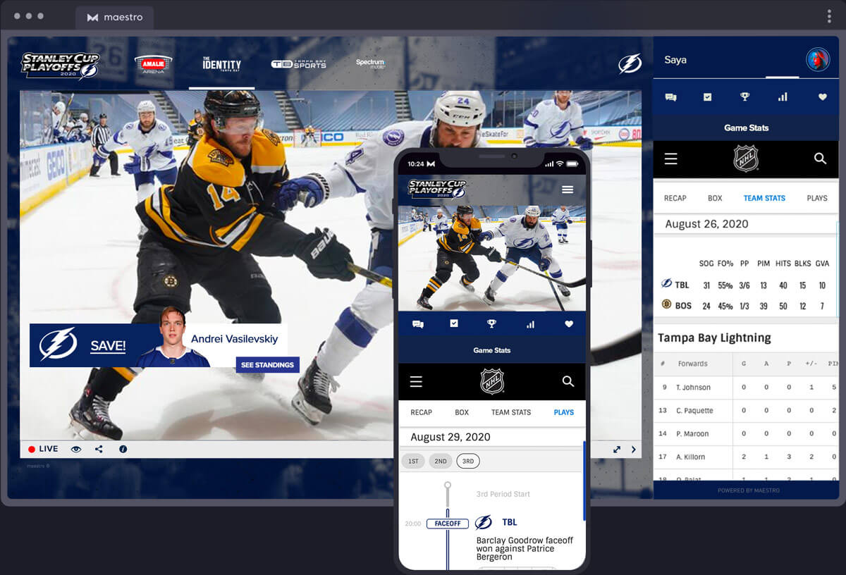 Live Data Integration | Maestro Live Streaming Sports - Solutions
