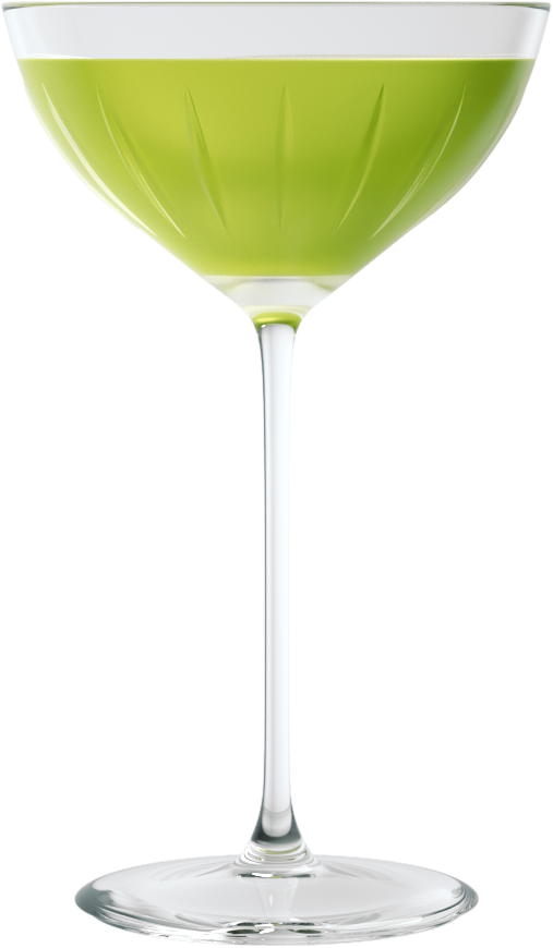 a glass with a green drink of Marriot Asia