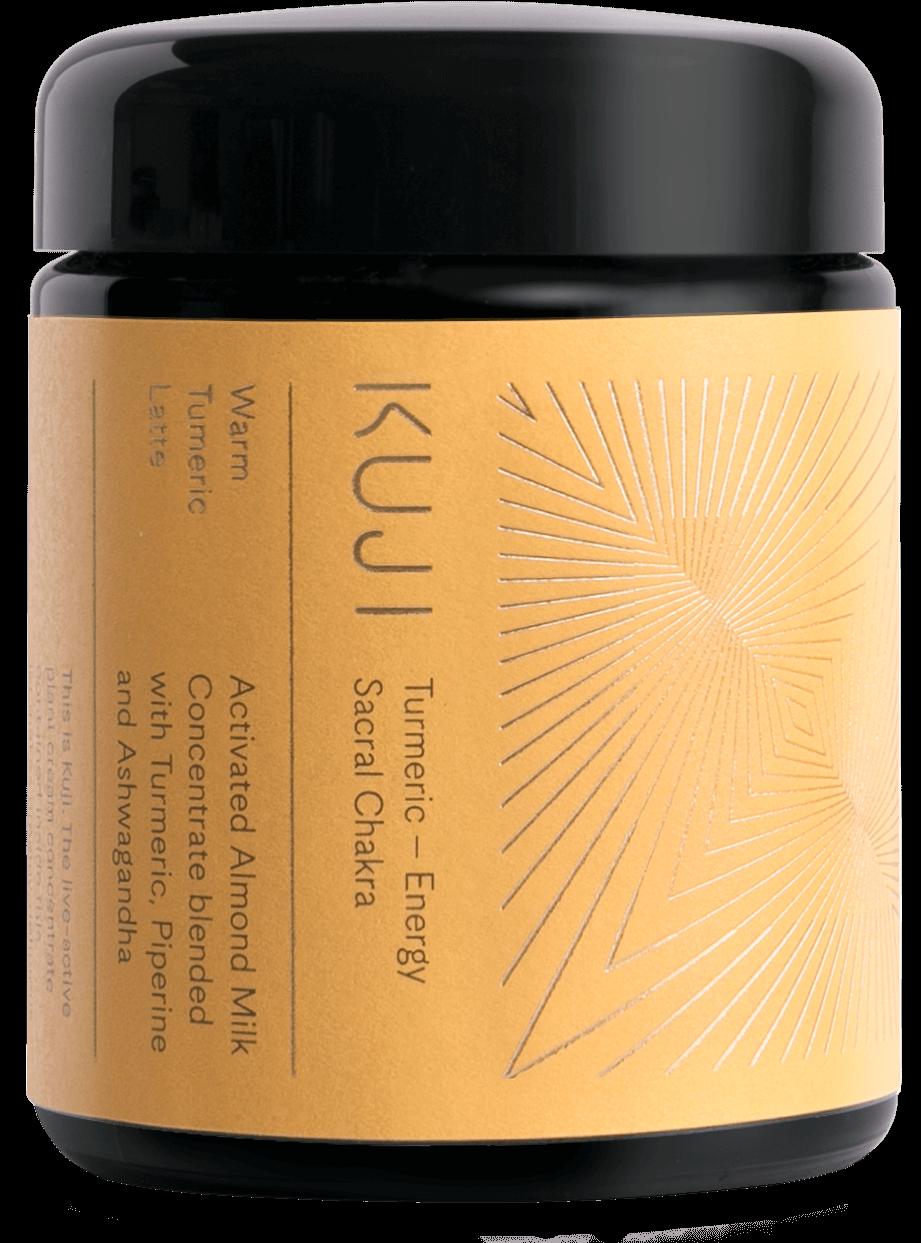 Kuji brand bottle. Turmeric, energy sacral chakra