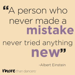 A person who never made a mistake, never tried anything new.
