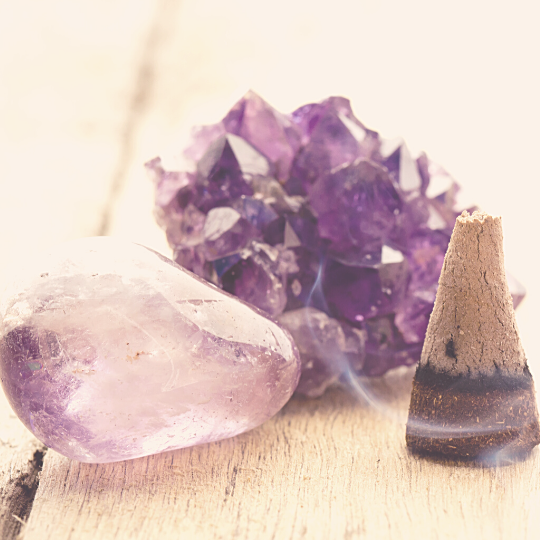 Crystals and incense