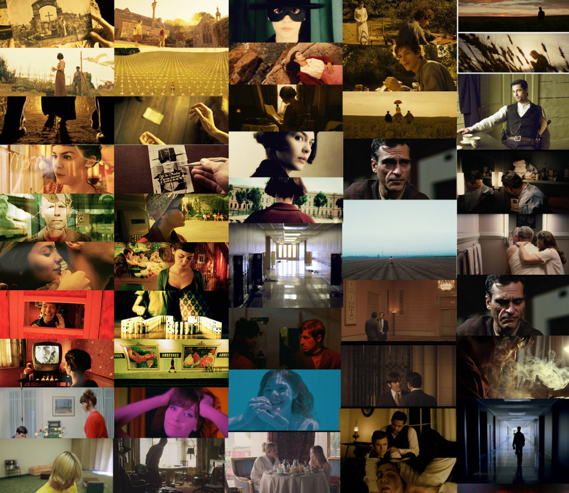 An example of a moodboard with images from various films