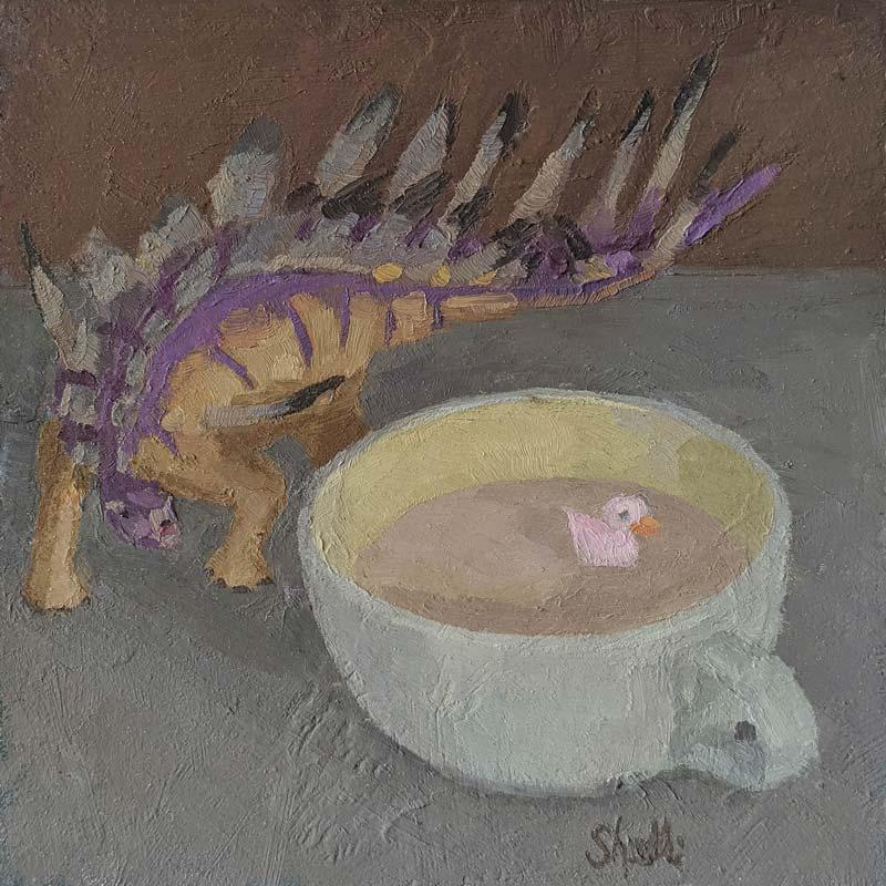 Latte with Dinosaur