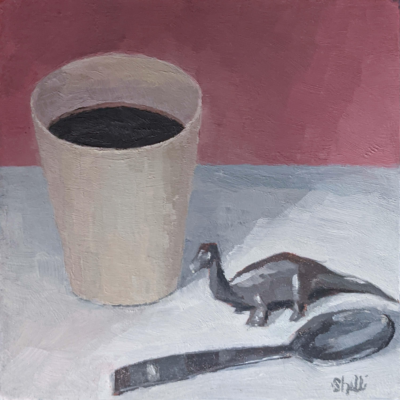 Black Coffee with Dinosaur