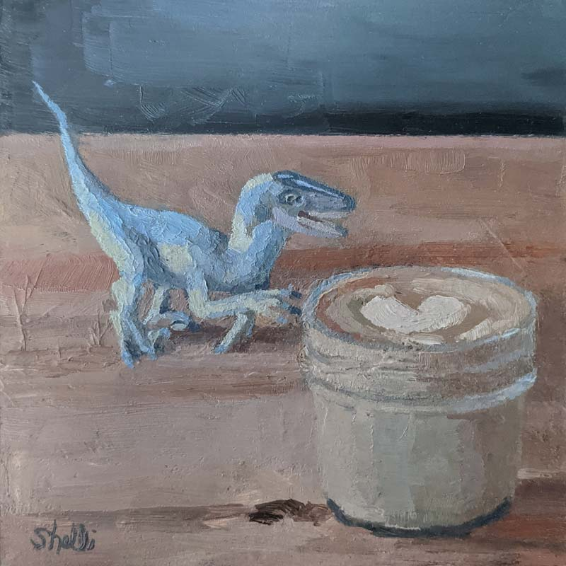 Cortado with Dinosaur