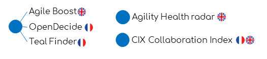 Agile Boost - Agility Health radar - CIX Collaboration Index - Open Decide - TealFinder