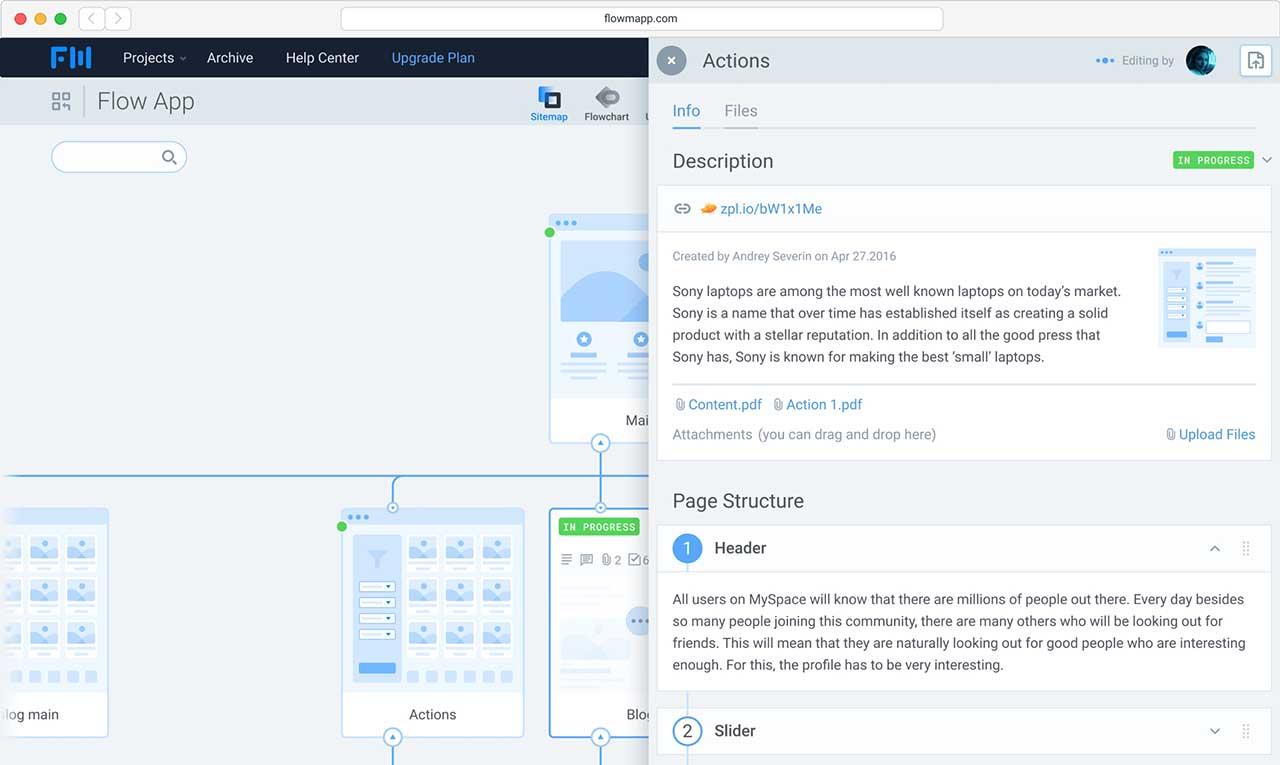Contextual communications in Flowmapp