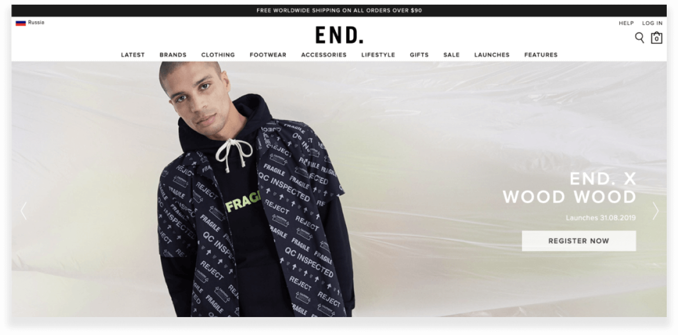 endclothing website