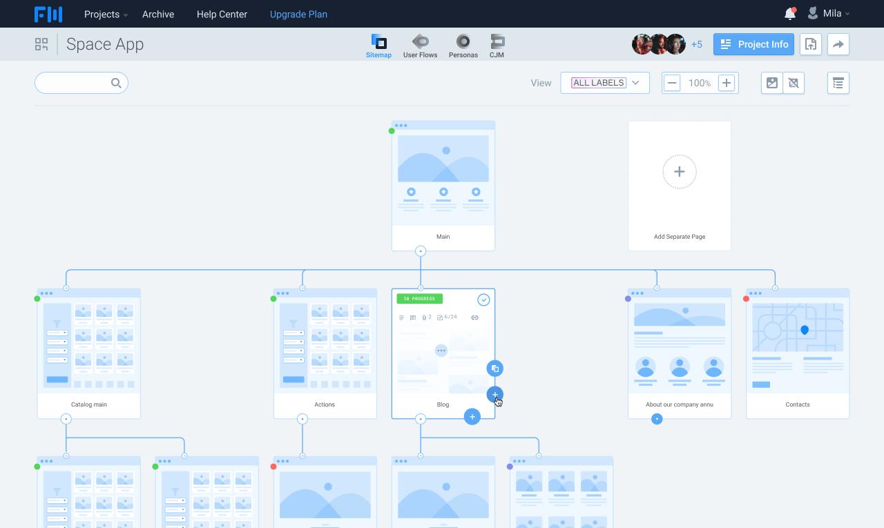 Sitemap Tool from FlowMapp