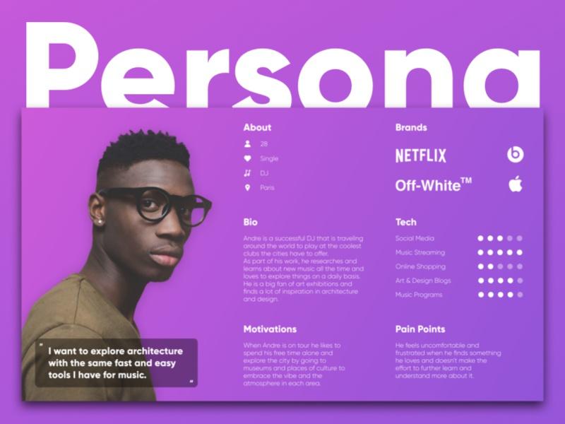 Persona Andre by Jonathan Bleier