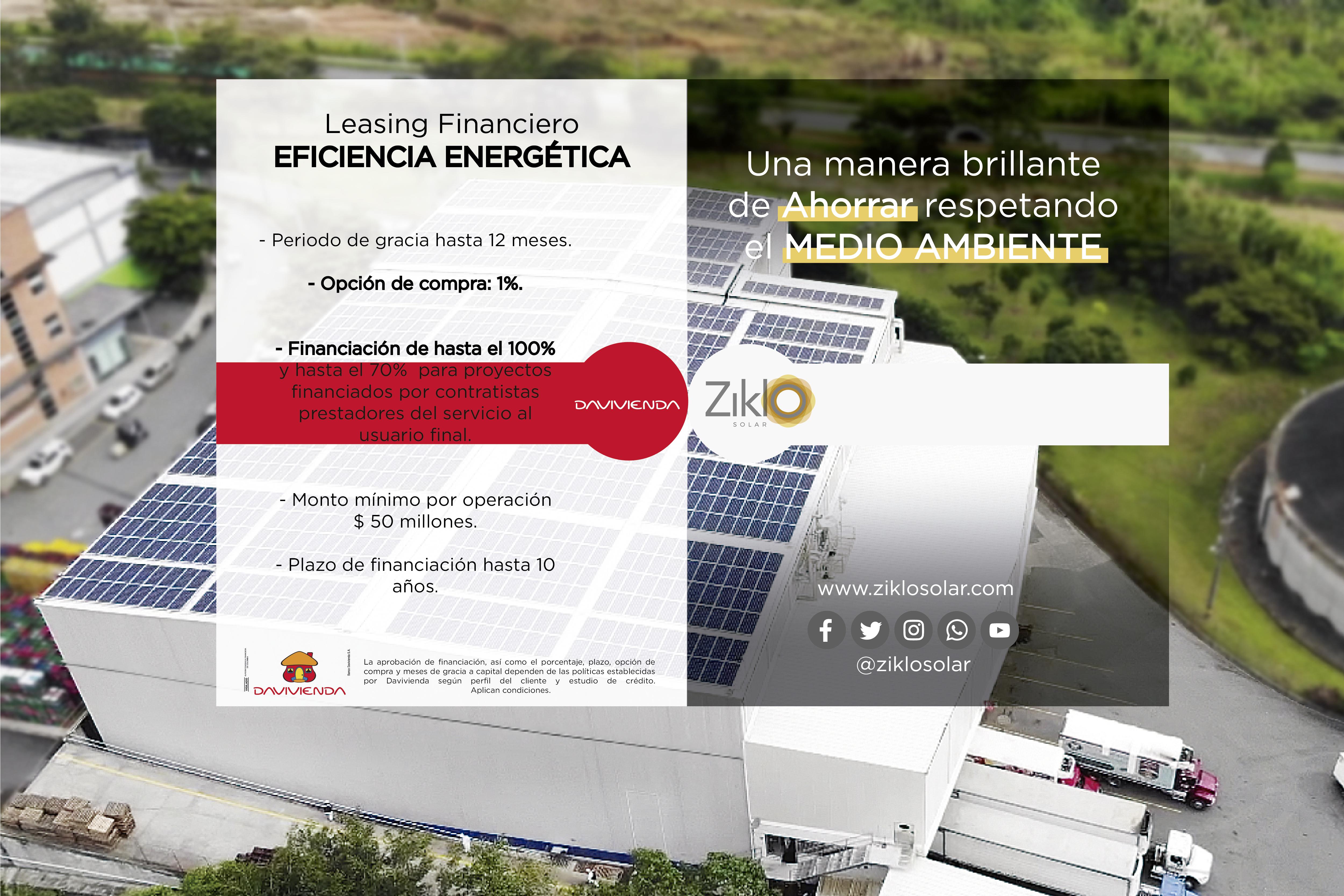 Leasing financiero: Eficiencia Energética
