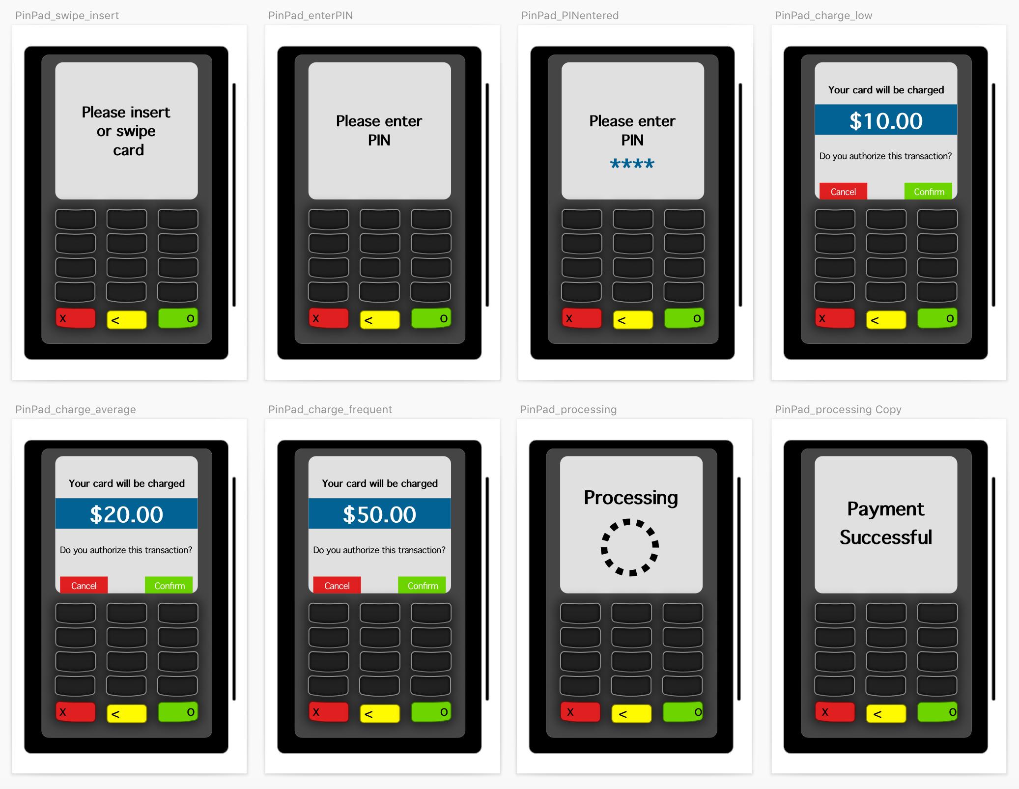 Image of all hi-fi pin pads