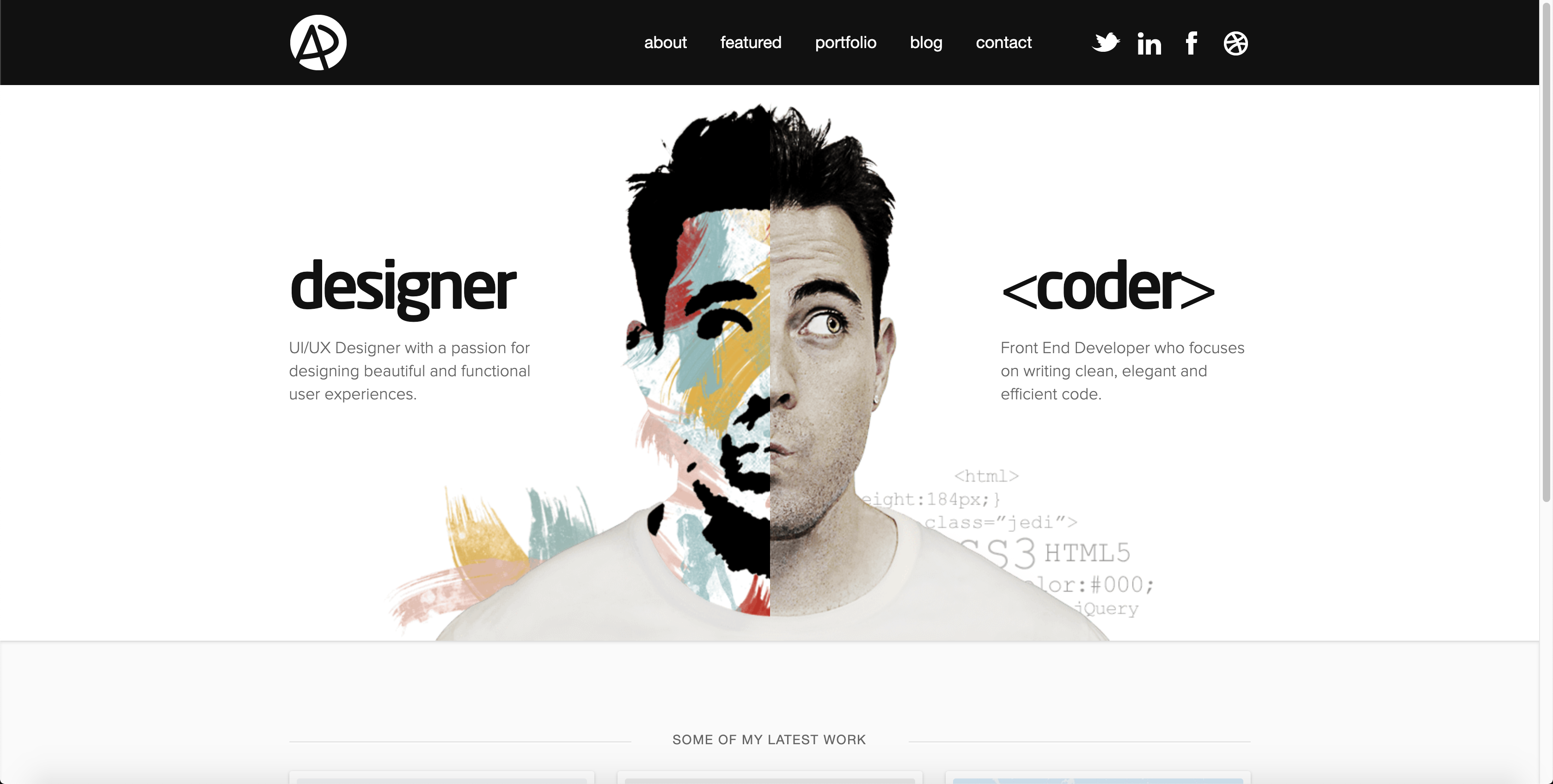 Adham Dannaway Homepage - screenshot
