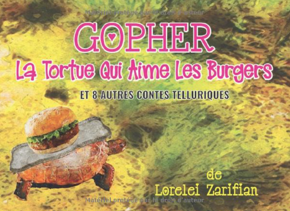 Gopher la tortue qui aime les burgers