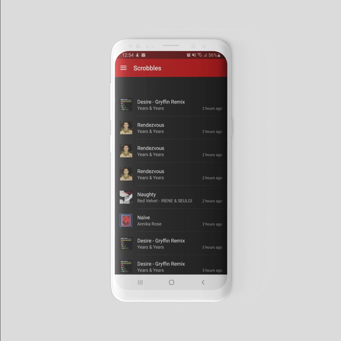 Old last.fm app design