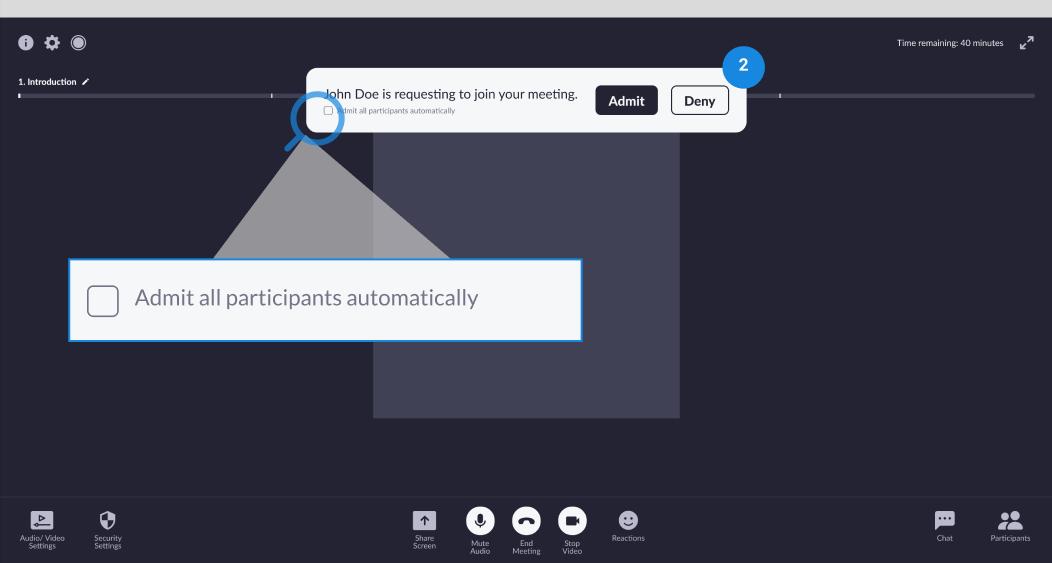 Wireframe - meeting alerts