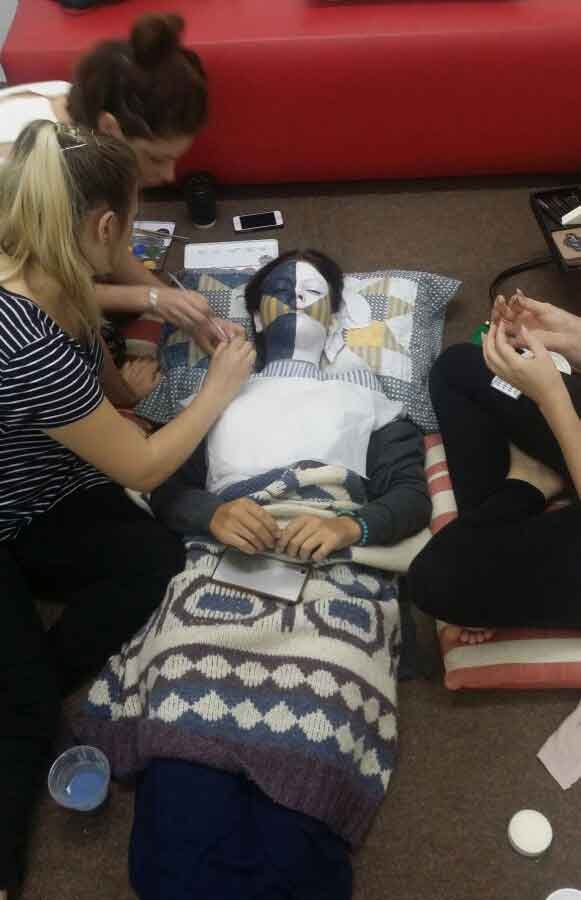 Our Make Up Students Hard At Work