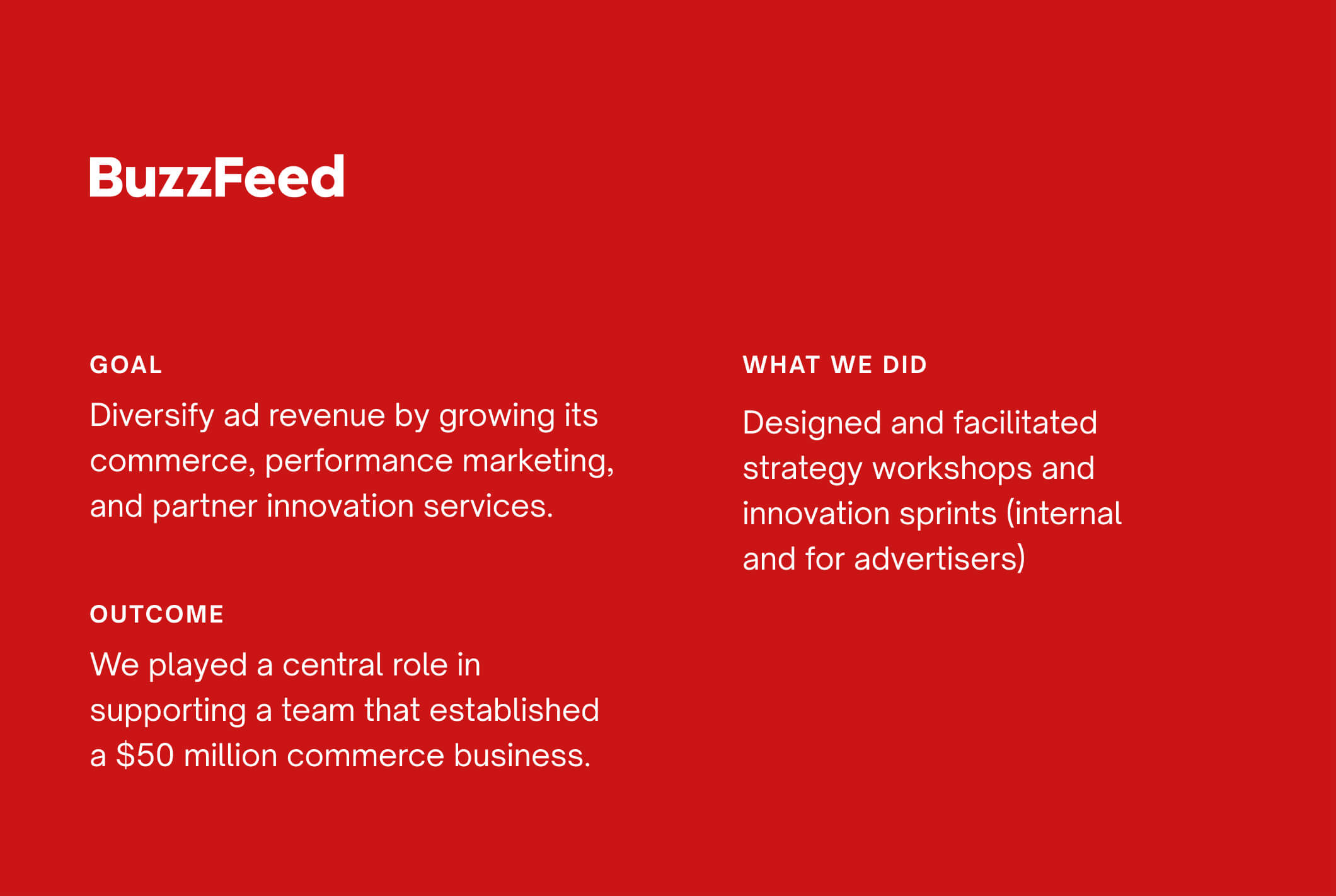 For BuzzFeed, Part and Sum helped diversify revenue by growing their commerce capabilities