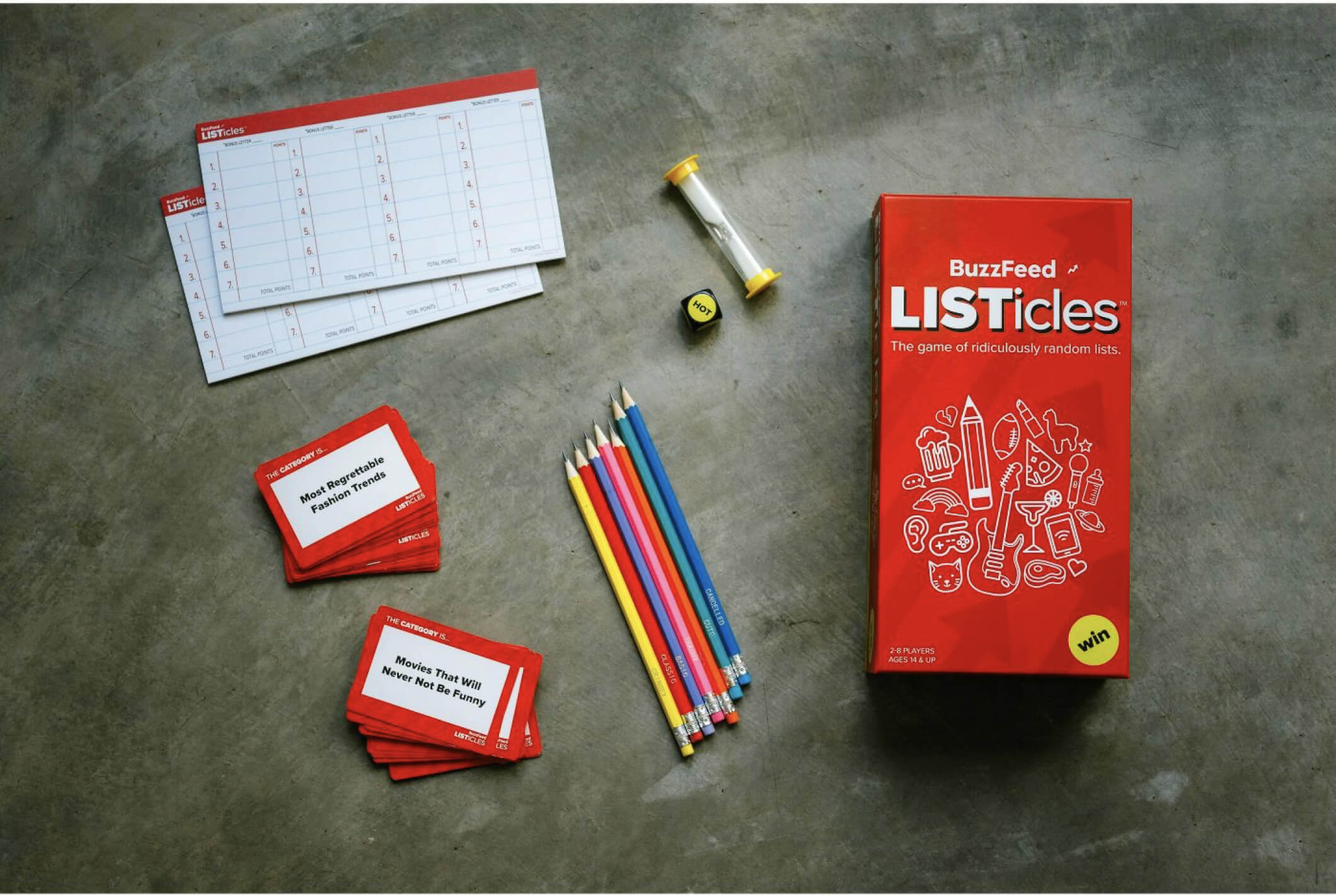 Listicals, the first game to come out of the BuzzFeed Game imprint