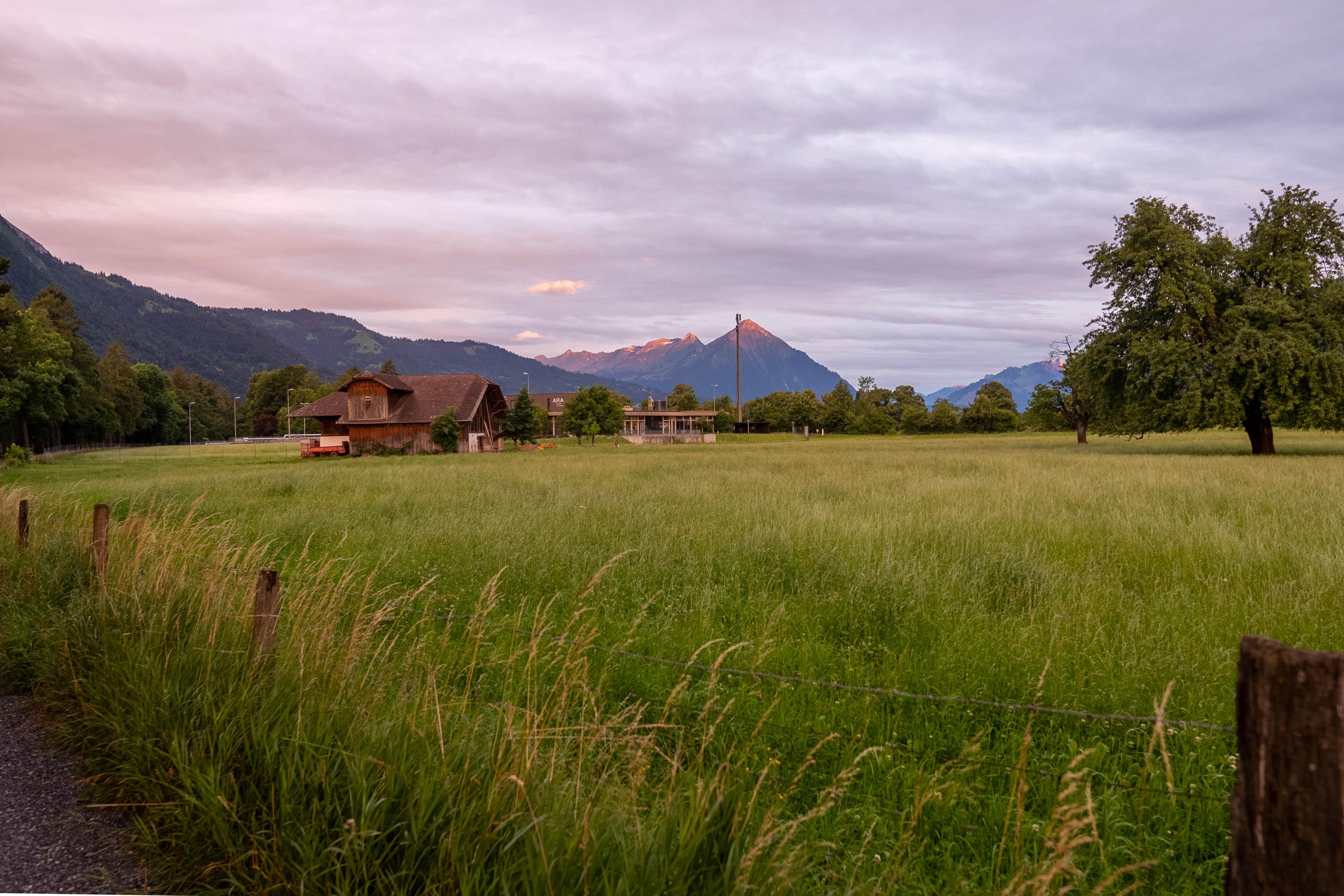 Sunrise Over Interlaken