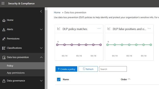 Microsoft 365 Compliance center policies